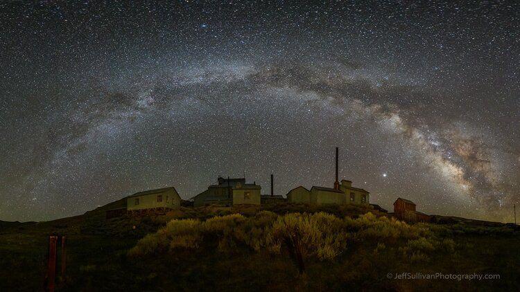 Standard Mill Under Milky Way Arch, July 13, 2020, © Jeff Sullivan