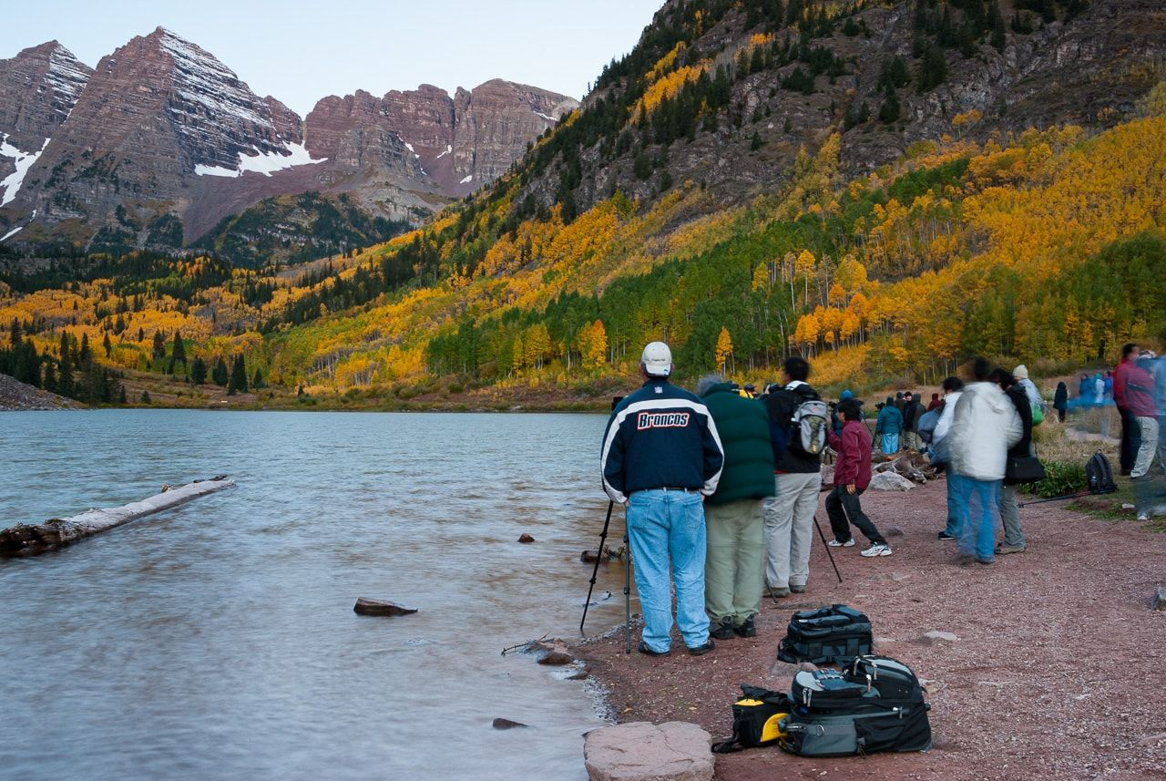 Photographers at Maroon Lake, Sep 2008