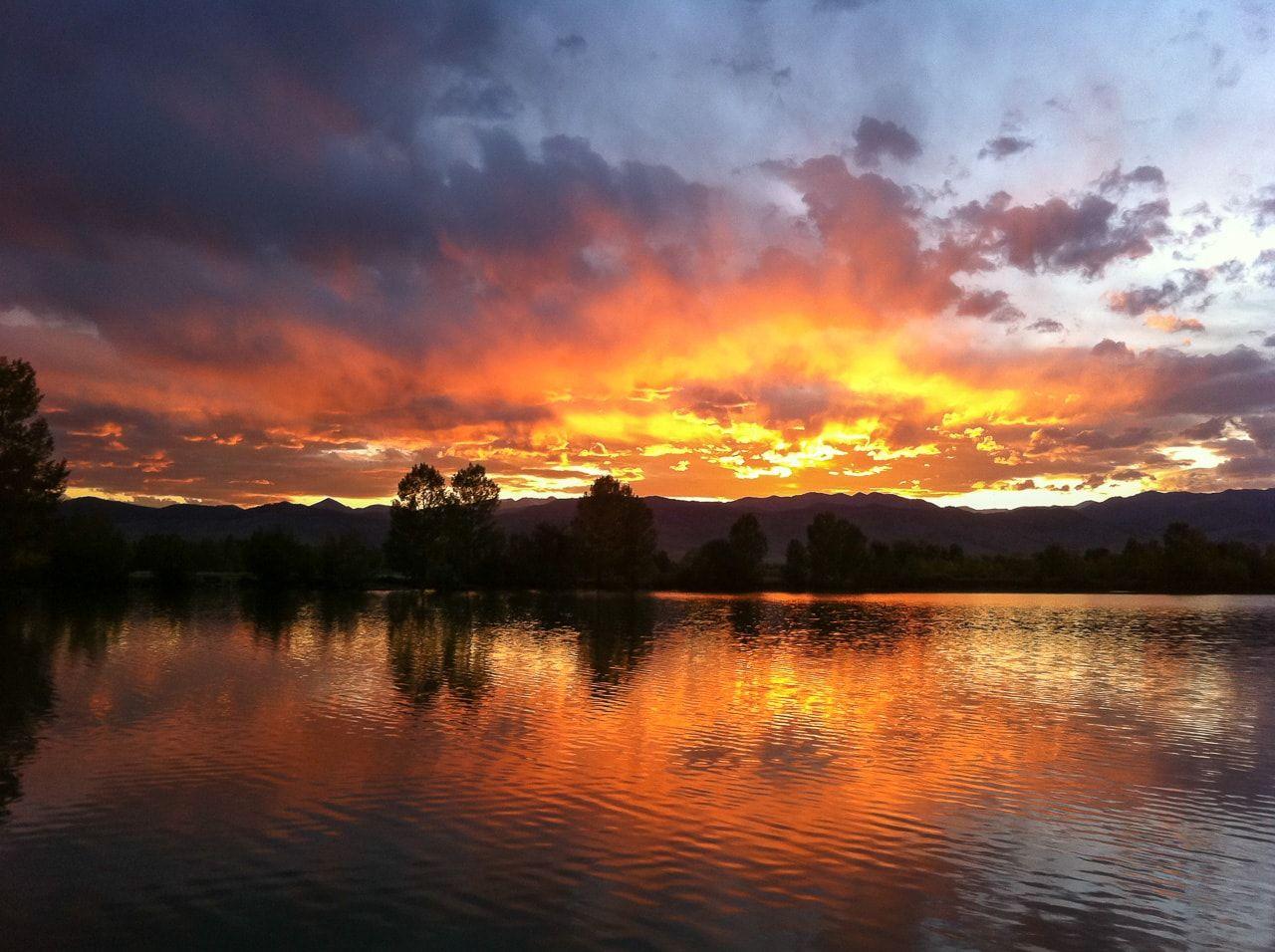Sunset at Coot Lake, Boulder County